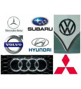Logos of manufacturers and images of models cars