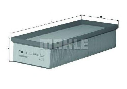LX 2046 KNECHT 70368396 - Air Filter AUDI