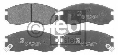 FEBI BILSTEIN 21647 - Brake Pad Set, disc brake Front Axle