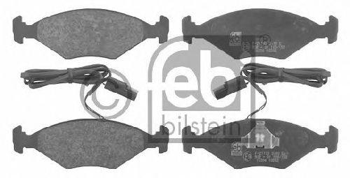 FEBI BILSTEIN 21195 - Brake Pad Set, disc brake Front Axle FIAT