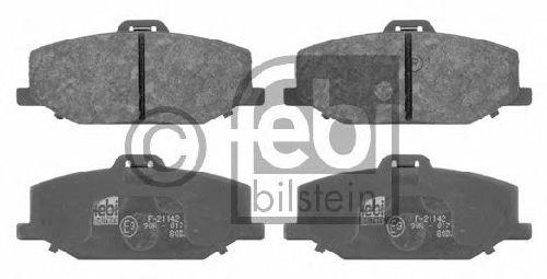 FEBI BILSTEIN 21142 - Brake Pad Set, disc brake Front Axle SUZUKI