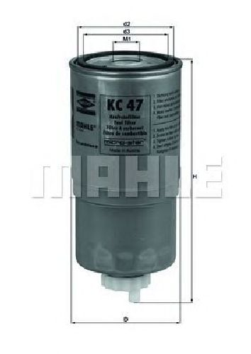 KC 47 KNECHT 78619140 - Fuel filter