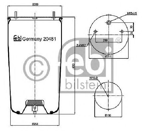 FEBI BILSTEIN 20481 - Boot, air suspension