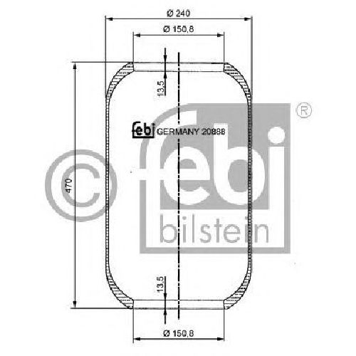 FEBI BILSTEIN 20888 - Boot, air suspension Front Axle left and right MAN