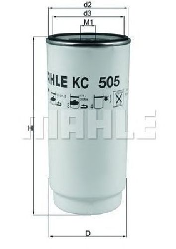 KC 505D KNECHT 72371414 - Fuel filter MERCEDES-BENZ