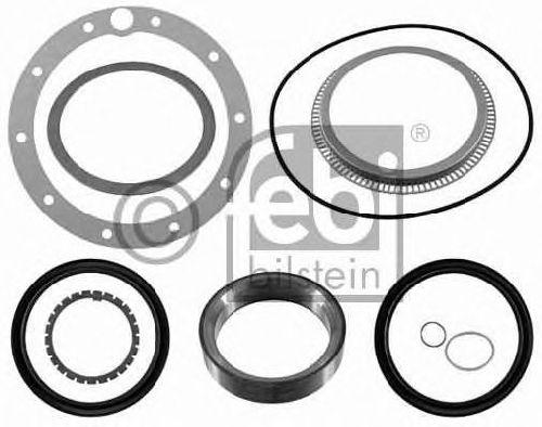 FEBI BILSTEIN 21978 - Gasket Set, wheel hub Rear Axle MERCEDES-BENZ