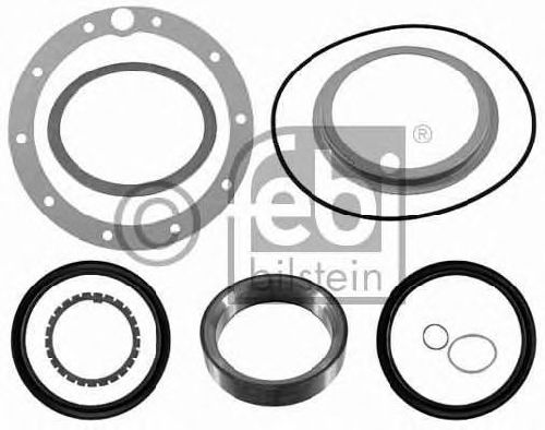 FEBI BILSTEIN 21979 - Gasket Set, wheel hub Rear Axle MERCEDES-BENZ