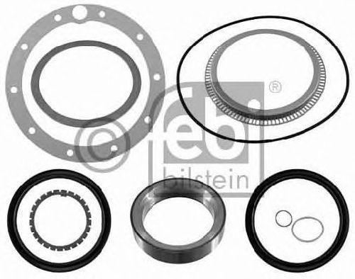 FEBI BILSTEIN 21980 - Gasket Set, wheel hub Rear Axle MERCEDES-BENZ