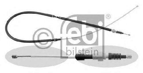 FEBI BILSTEIN 22886 - Cable, parking brake Left Rear | Right Rear SKODA