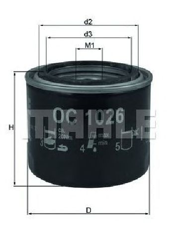OC 1026 KNECHT 70595363 - Oil Filter