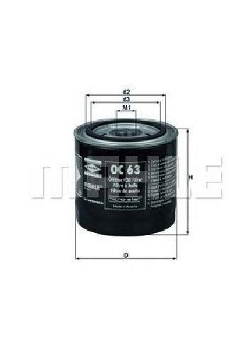 OC 63 KNECHT 72014439 - Oil Filter FENDT