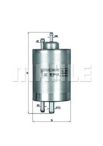 KL 254 KNECHT 70326007 - Fuel filter MAYBACH, MERCEDES-BENZ