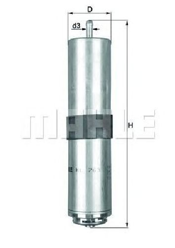 KL 763D KNECHT 70539023 - Fuel filter ALPINA, BMW