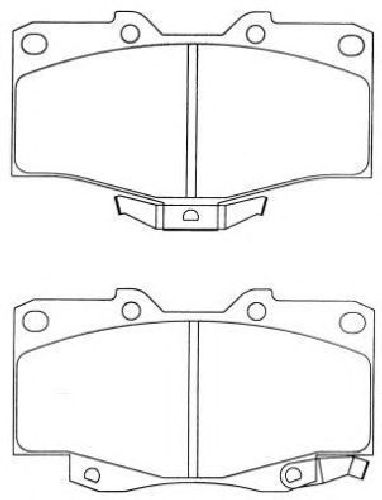 AISIN ASN-274 - Brake Pad Set, disc brake Front Axle TOYOTA