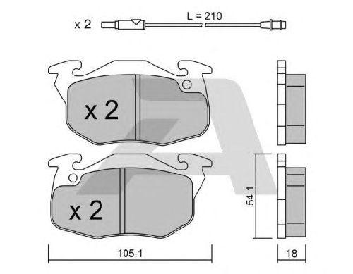 AISIN BPPE-1003 - Brake Pad Set, disc brake Front Axle PEUGEOT