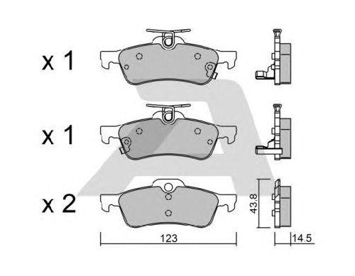AISIN BPTO-2004 - Brake Pad Set, disc brake Rear Axle TOYOTA