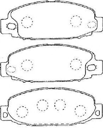 AISIN D1N038 - Brake Pad Set, disc brake