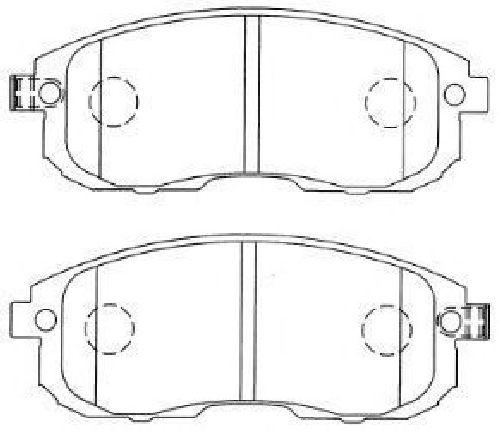 AISIN H1N041 - Brake Pad Set, disc brake