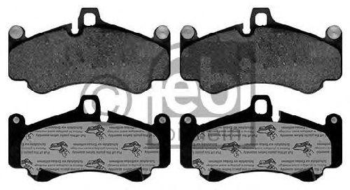FEBI BILSTEIN 116173 - Brake Pad Set, disc brake Front Axle PORSCHE