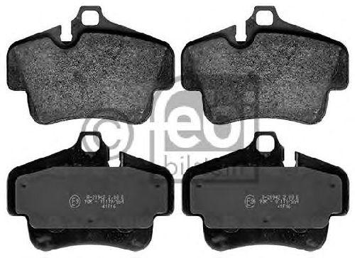FEBI BILSTEIN 116178 - Brake Pad Set, disc brake Rear Axle PORSCHE