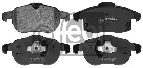 FEBI BILSTEIN 116206 - Brake Pad Set, disc brake Front Axle SAAB