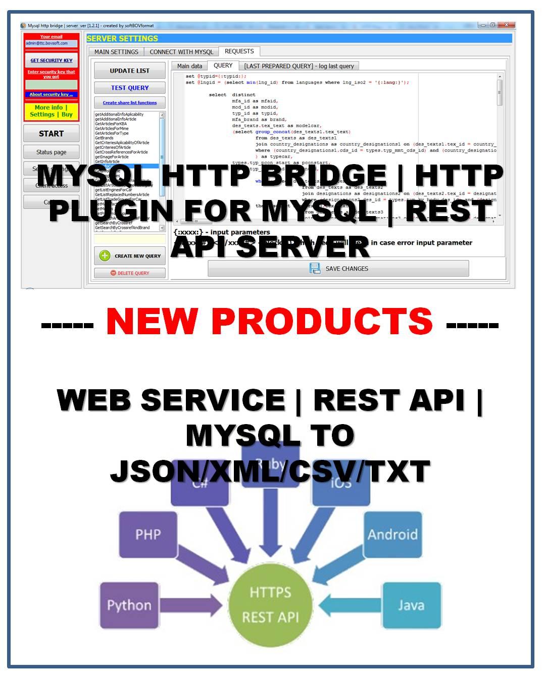 MYSQL HTTP SERVER | WEB SERVICE