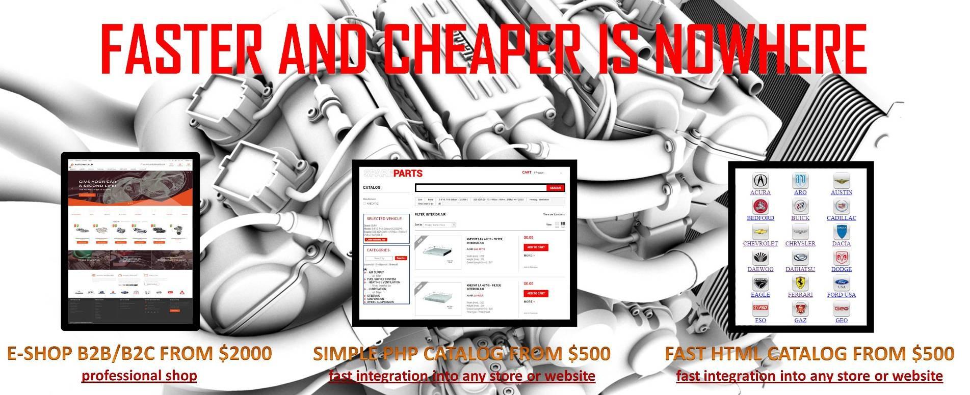 Develop e-shop and online catalog