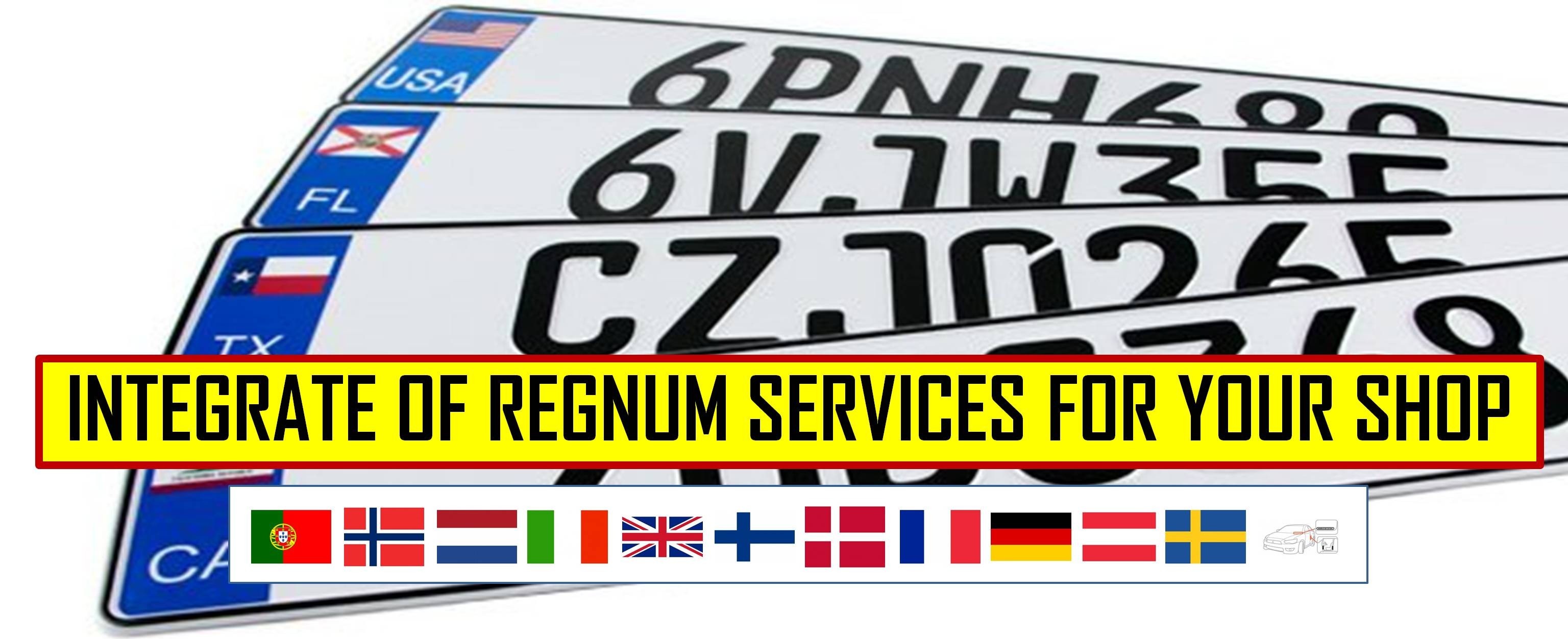 REGNUM [LICENSE PLATE] SERVICES FOR DIFFERENT COUNTRIES | INTEGRATE SERVICES