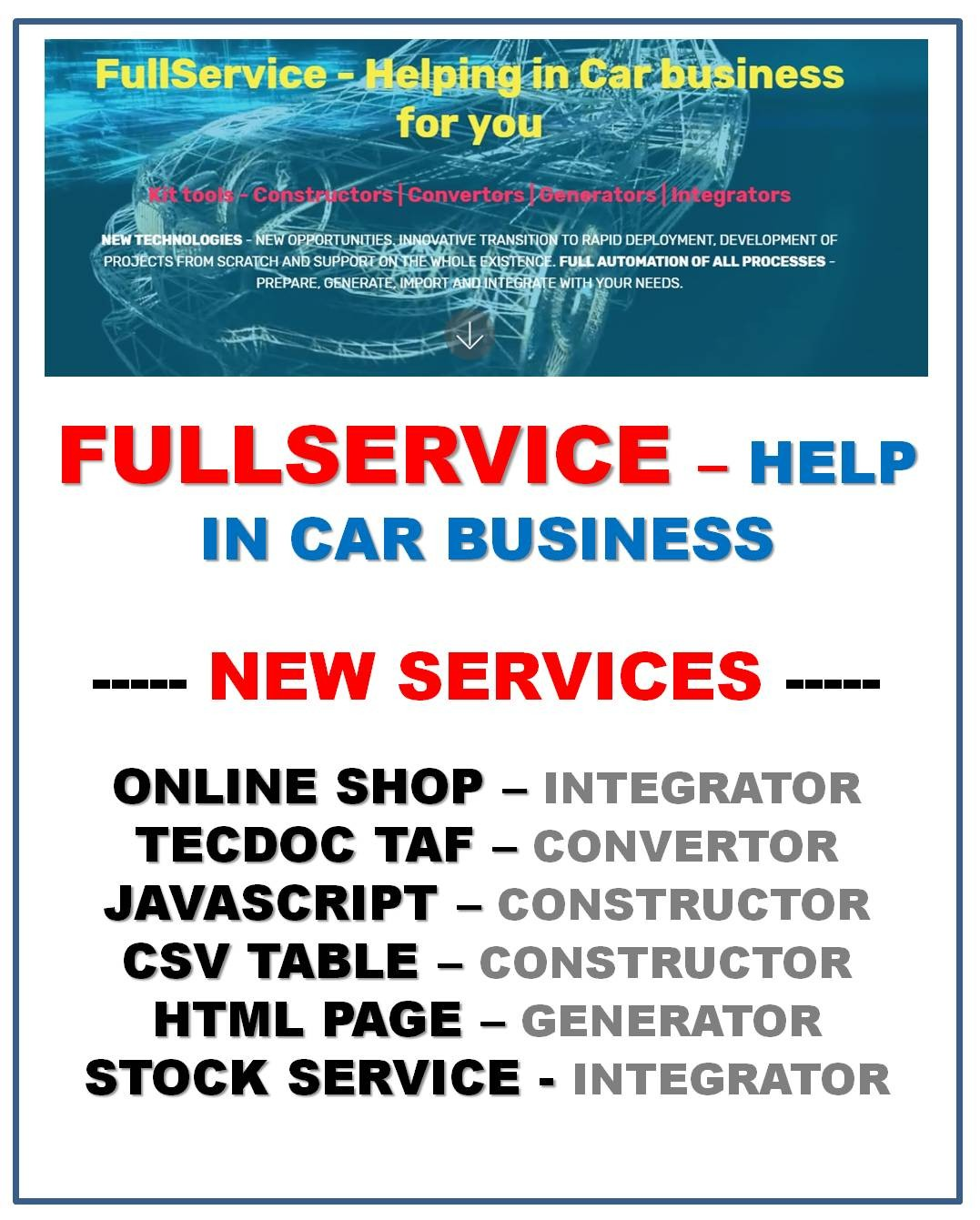 FullService - help in Car business