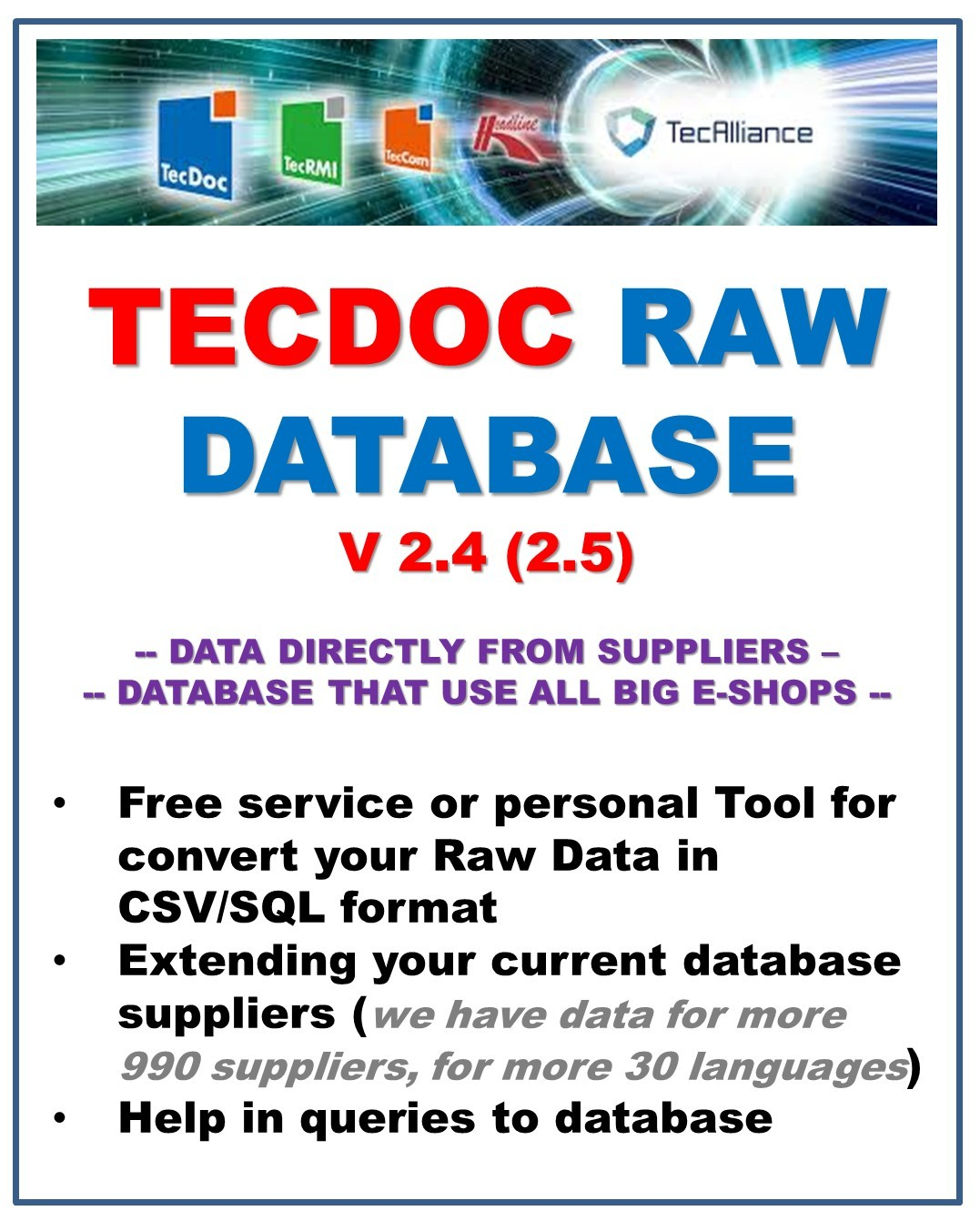 Tecdoc TAF Raw database