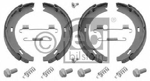 FEBI BILSTEIN 02100 - Brake Shoe Set, parking brake Rear Axle MERCEDES-BENZ